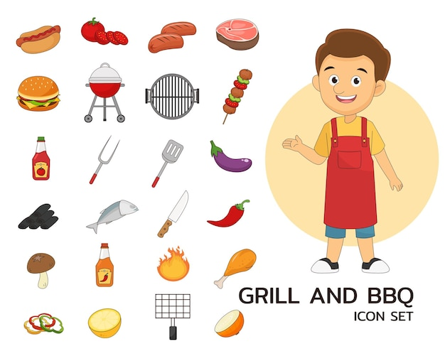 Grill- und bbq-illustration