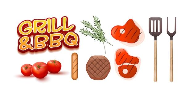 Grill und bbq set