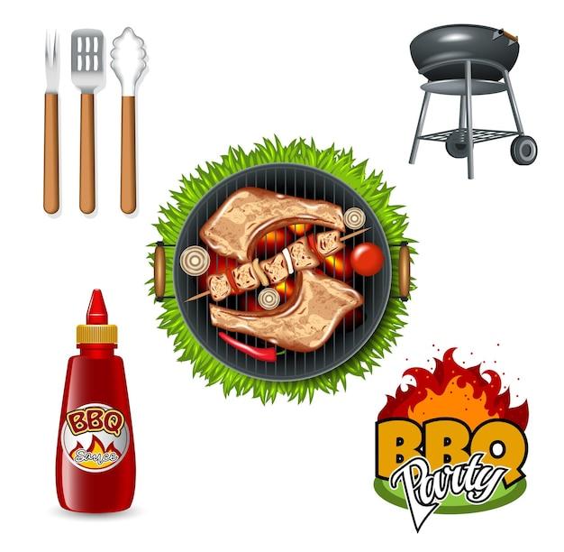 Grill- und grillartikel-set