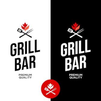 Grillbar moderne label-banner-grafik-design-idee