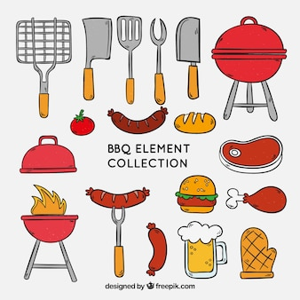 Grillelement-Sammlung zum Kochen