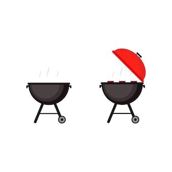Grillillustration, grill.