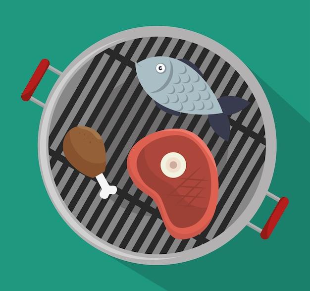 Grillmenü rindfleisch design isoliert