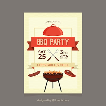 Grillparty-flyer