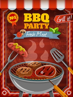Grillparty-plakat