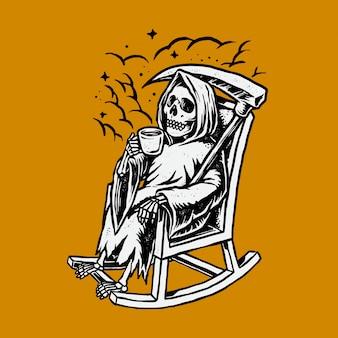 Grim reaper chillin