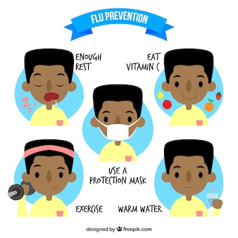 Grippe-prävention set