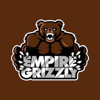 Grizzlybär sport gaming logo abbildung
