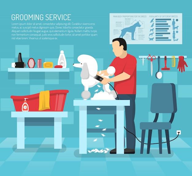 Grooming pet service-vorlage