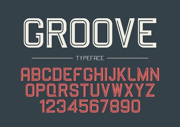 Groove dekorative fettschrift