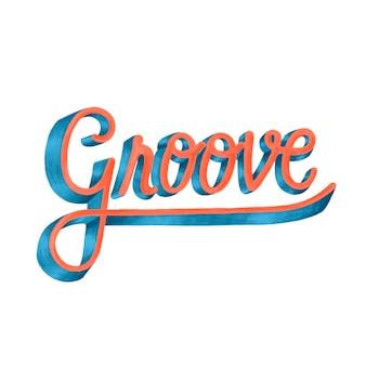 Groove motivierende wort typografie design