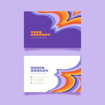 Groovige psychedelische visitenkarten