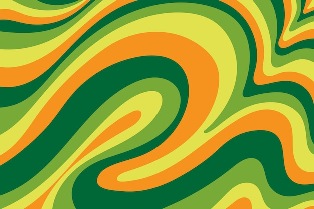 Grooviger psychedelischer bunter hintergrund Kostenlosen Vektoren