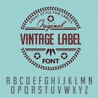 Großartiger stil für etikettenplakat