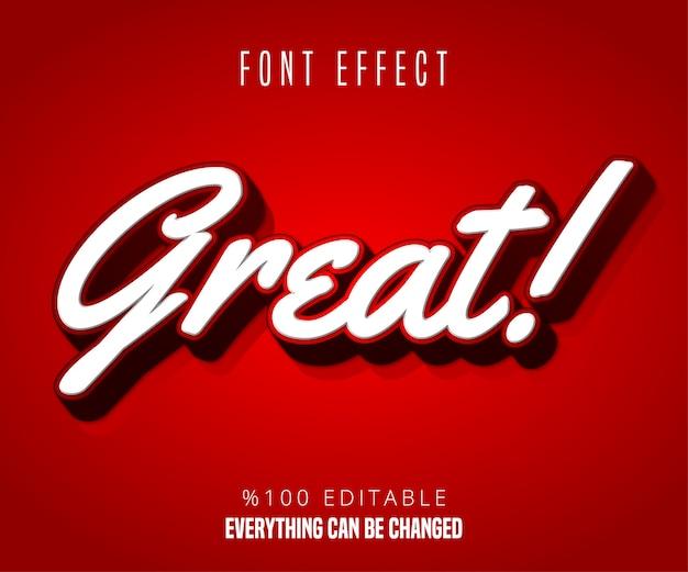 Großartiger text, bearbeitbarer font-effekt