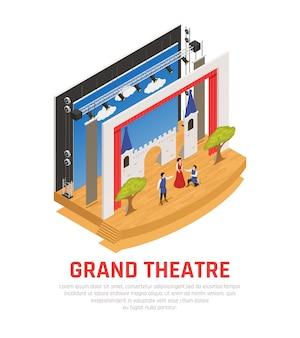 Großartiges theater isometrisch