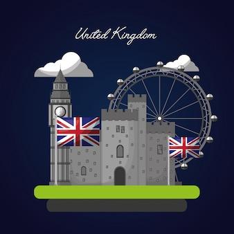 Großbritannien-markierungsfahne