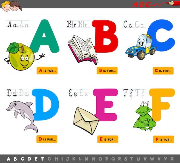 Großbuchstaben alphabet bildungsset
