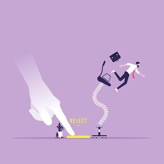 Große arbeitgeber schieben die ablehnung nach unten und der arbeiter wird von seinem sitz abgelehnt