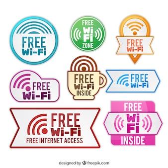 Große auswahl an farbigen wifi aufkleber