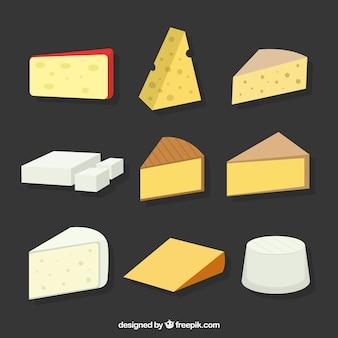 Große auswahl an käse