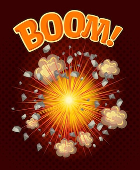 Große coole explosion illustration