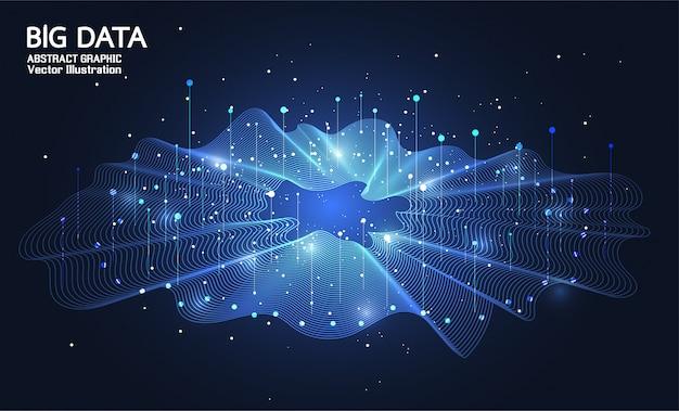 Große daten. internetverbindung, abstrakter sinn für wissenschaft