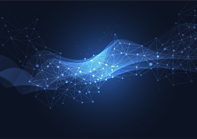 Große datenvisualisierung der abstrakten technologie