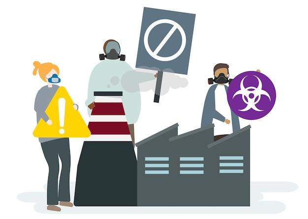 Große fabriken und luftverschmutzung