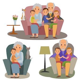 Große familie festgelegt