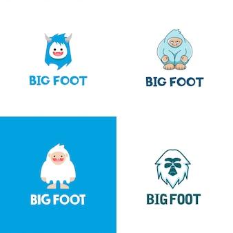 Große fuß-logo-sammlung