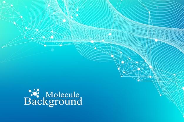 Große genomische datenvisualisierung. dna-helix, dna-strang, dna-test. molekül oder atom, neuronen. abstrakte struktur für wissenschaft oder medizinischen hintergrund, banner.