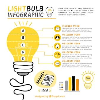 Große glühbirne infografik-vorlage