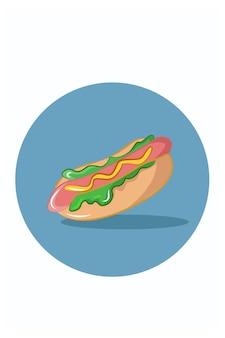 Große hotdogs-vektorillustration