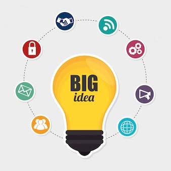 Große idee, kreativität und intelligenz