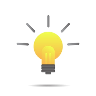 Große ideen inspiration, glühbirne