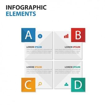 Große infografik mit vier schritten