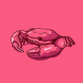 Große krabbenillustration