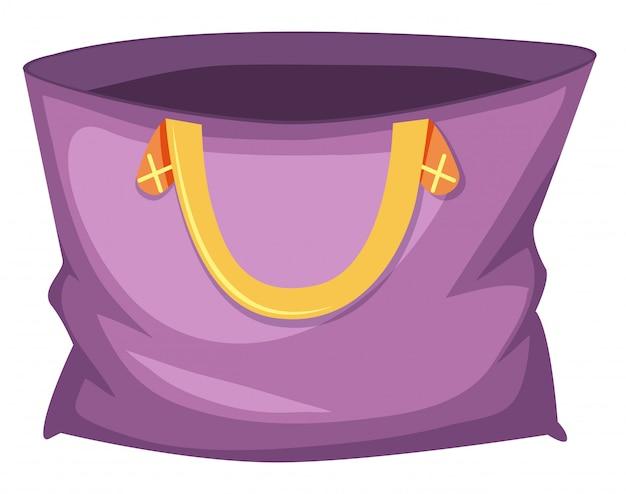 Große lila einkaufstasche