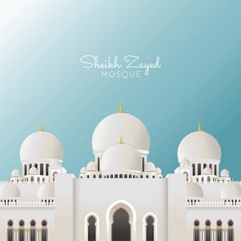Große moschee von sheikh zayed, geeignet für ramadan & eid-begrüßung