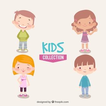 Große packung von glückliche kinder