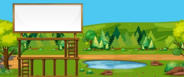 Große plakatwand in der natur