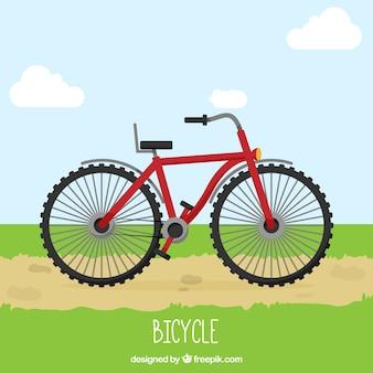 Große rote fahrrad