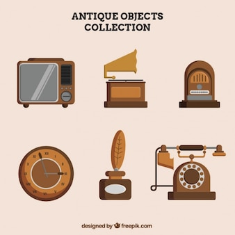 Große sammlung von antiken objekten