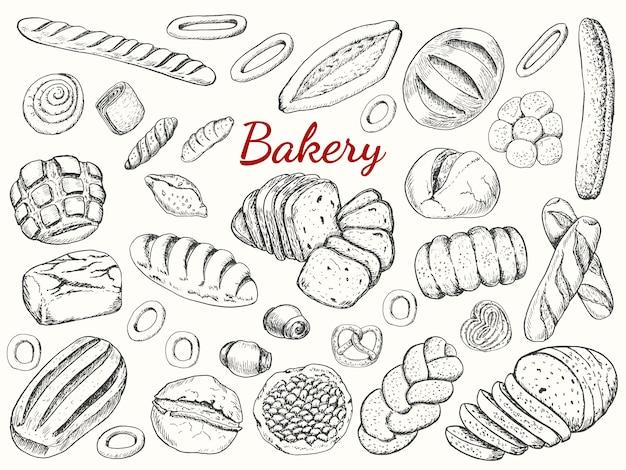 Große sammlung von bäckerei