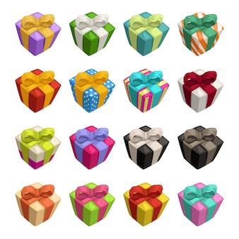 Große sammlung von geschenkboxen