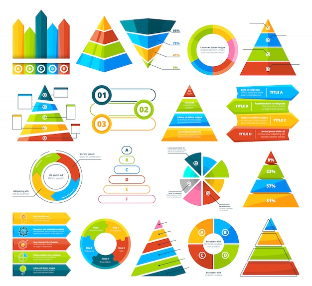 Große sammlung von infografik-elementen