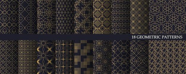 Große sammlung von luxus geometrischen