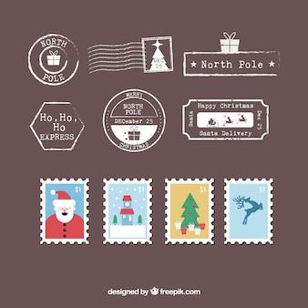 Große sammlung von weihnachtsmarken