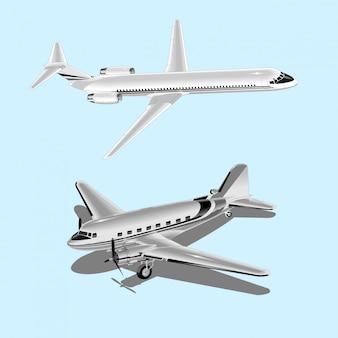 Große schöne flugzeuge